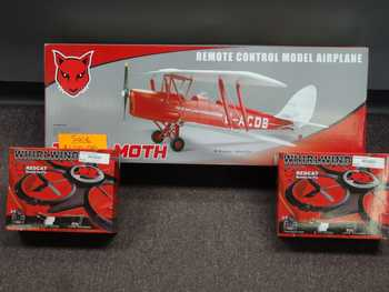 We carry a few planes and copters as well!