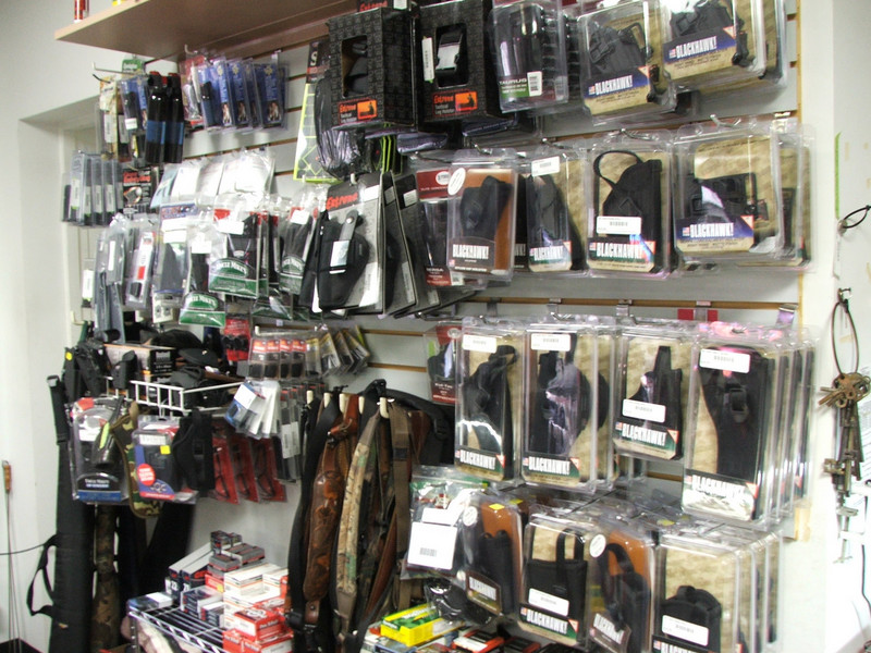 Come to our store and see our selection of firearm accessories.  We carry many holsters, slings, cases, and safety devices.